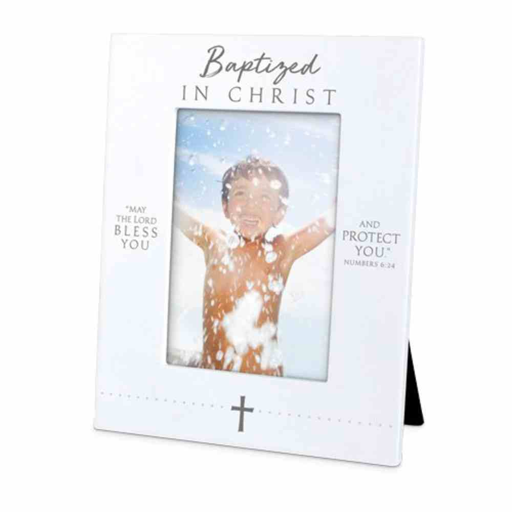 Photo Frame Precious Occasions: Baptized in Christ, Cast Stone (Numbers 6:24) Homeware