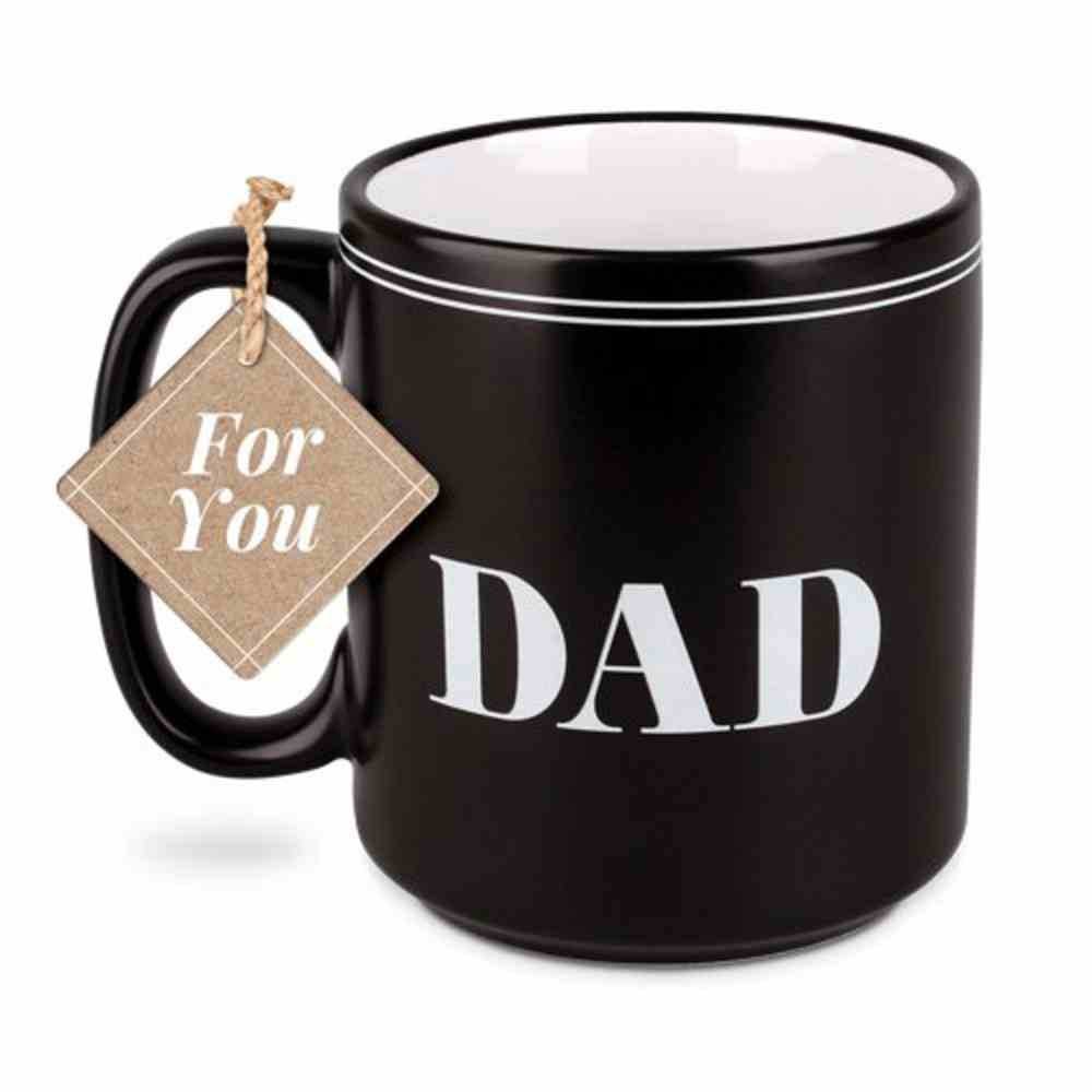 Ceramic Mug: Blessed Dad, Black/White (Jeremiah 17:7) Homeware