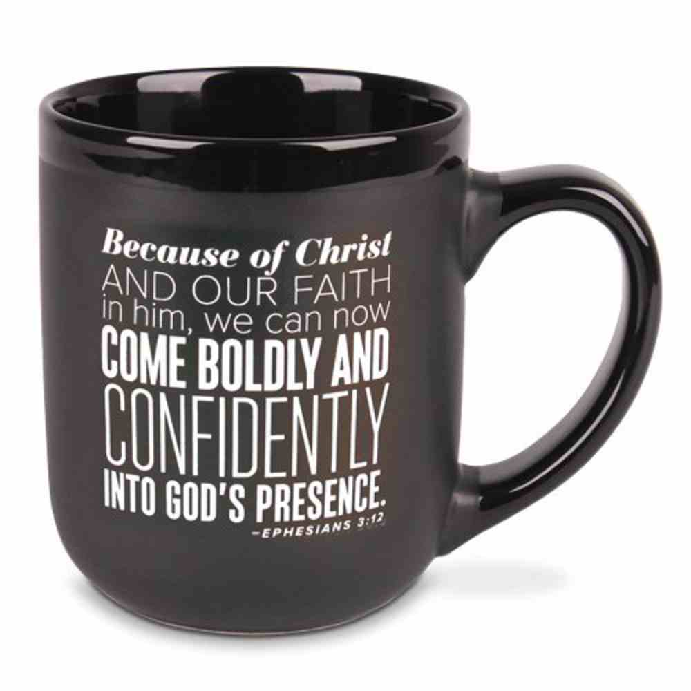 Ceramic Mug: Encourage Men, Come Boldy, Navy/White (Eph 3:12) Homeware