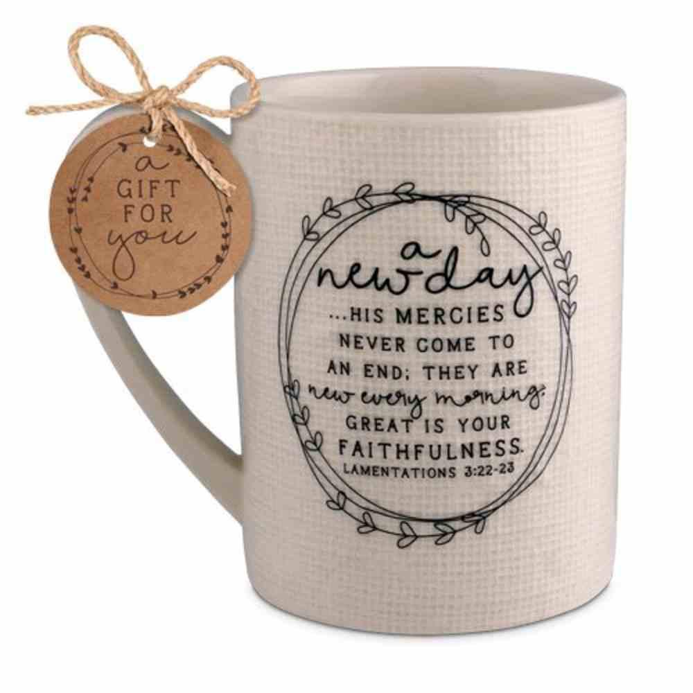 Ceramic Mug Hand Drawn Doodles: A New Day (Lamentations 3:22-23) Homeware