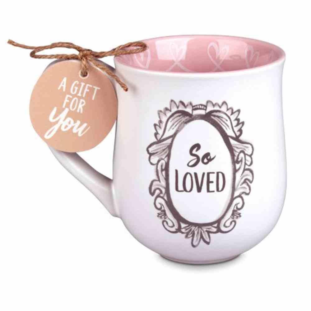 Ceramic Mug Flourish: So Loved, Peach Inside/White Outside (Phil 1:3) Homeware