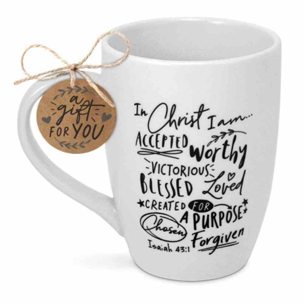 Ceramic Mug: Scripture Ink, in Christ I Am Accepted, Isaiah 43:1 Homeware