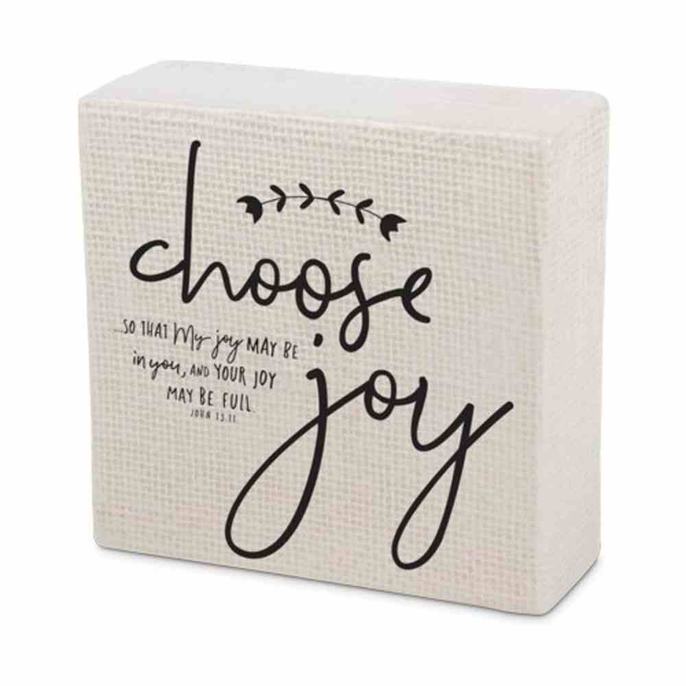 Ceramic Plaque Double Sided-Hand Drawn Doodles: Choose Joy/Always Believe (John 15:11 & Romans 8:28) Plaque
