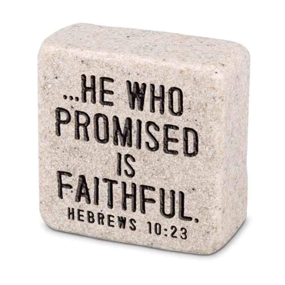 Stone Scripture Block: Faithful (Hebrews 10:23) Homeware