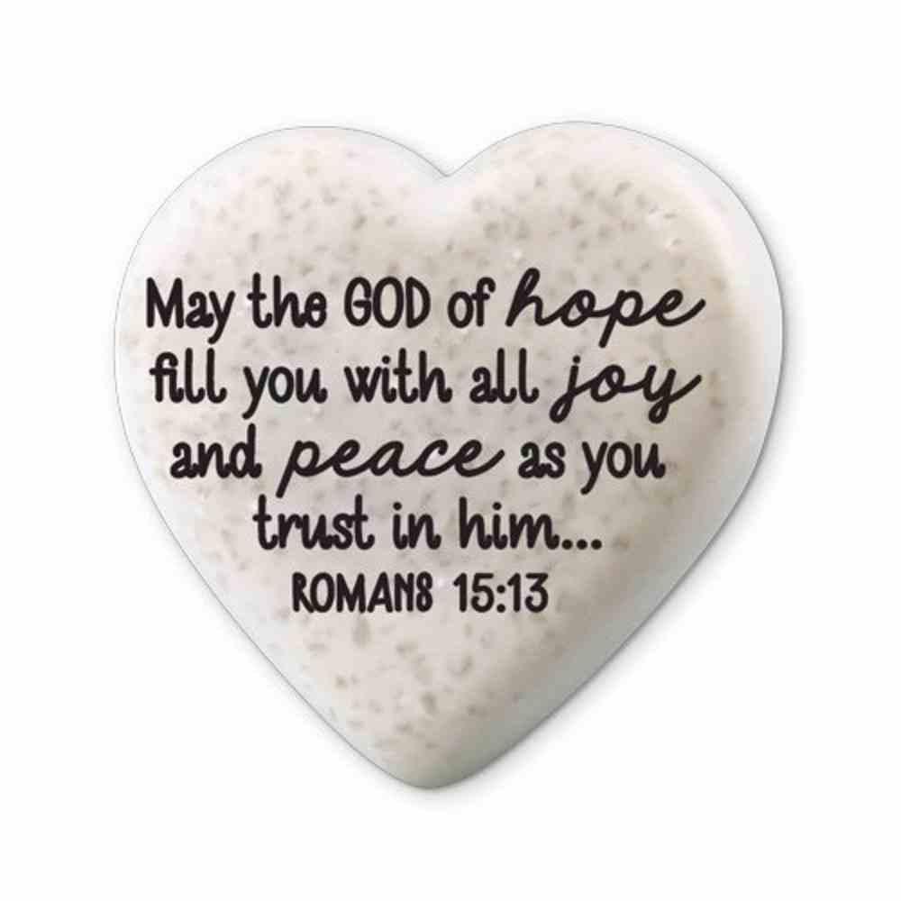Plaque Scripture Stone: Hearts of Hope - Joy & Peace (Romans 15:13) Plaque