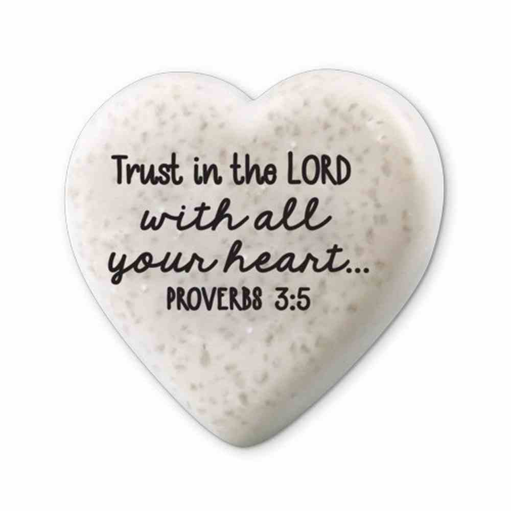 Plaque Scripture Stone: Hearts of Hope - Trust (Proverbs 3:5) Plaque