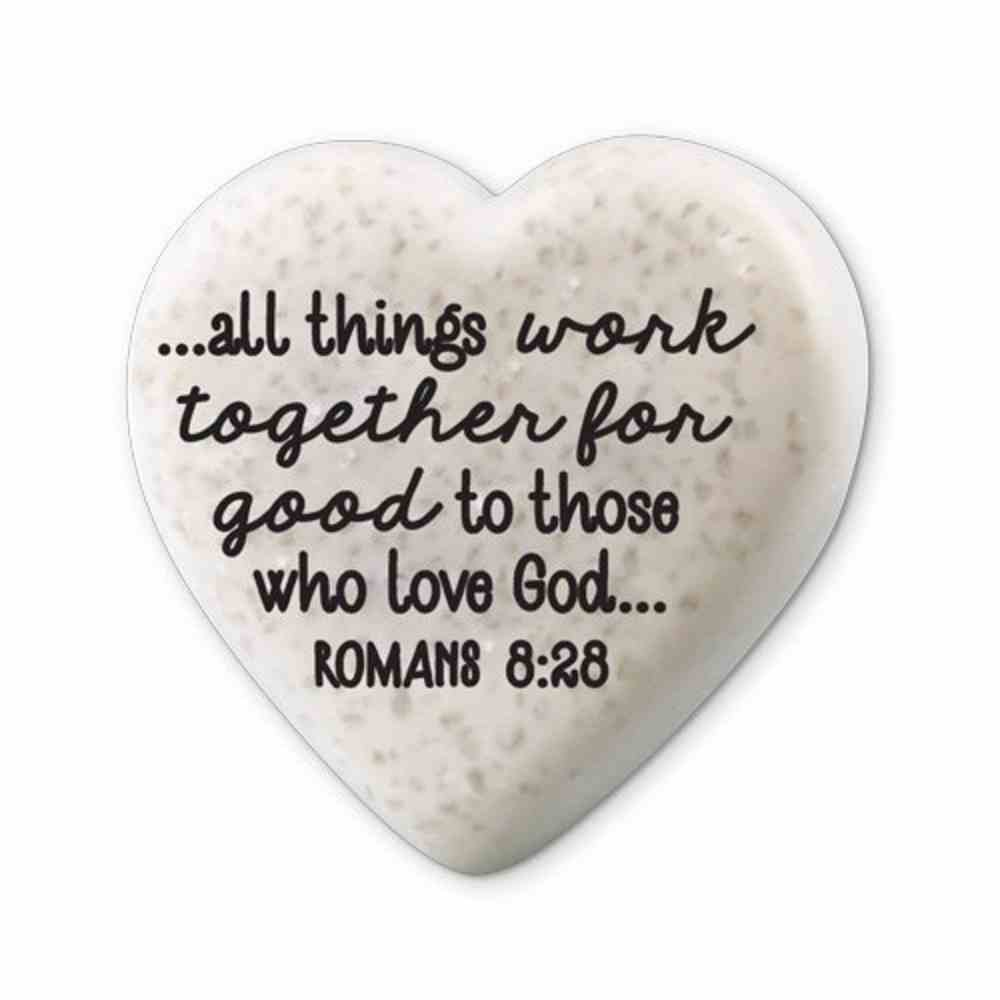 Plaque Scripture Stone: Hearts of Hope - Believe (Romans 8:28) Plaque