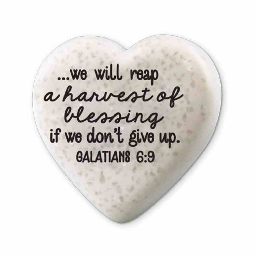 Plaque Scripture Stone: Hearts of Hope - Blessing (Galatians 6:9) Plaque