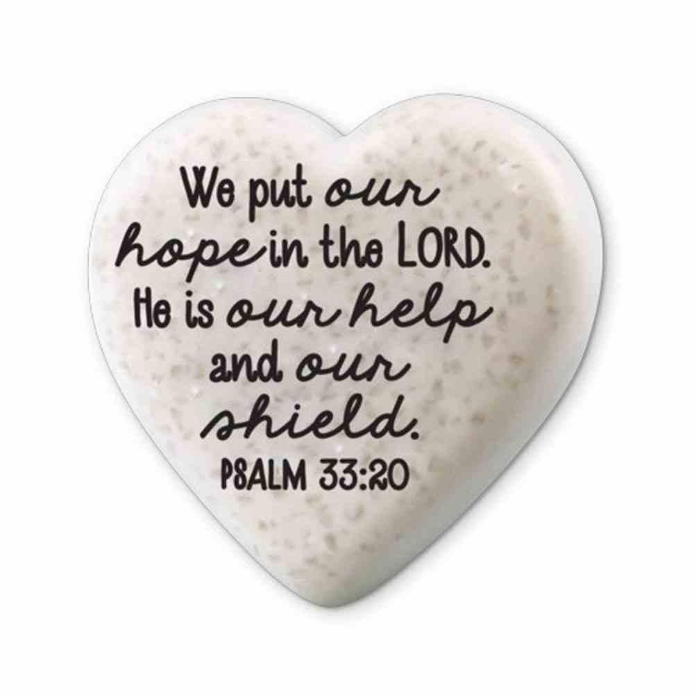 Plaque Scripture Stone: Hearts of Hope - Hope (Psalm 33:20) Plaque
