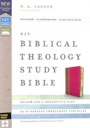 NIV Biblical Theology Study Bible Pink/Brown Indexed (Black Letter Edition) Premium Imitation Leather