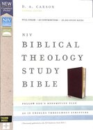 NIV Biblical Theology Study Bible Burgundy Indexed (Black Letter Edition) Bonded Leather
