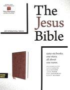 NIV the Jesus Bible Brown Indexed Comfort Print Premium Imitation Leather