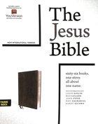 NIV the Jesus Bible Black Indexed Comfort Print Premium Imitation Leather