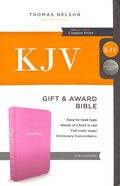 KJV Gift and Award Bible Pink (Red Letter Edition) Imitation Leather