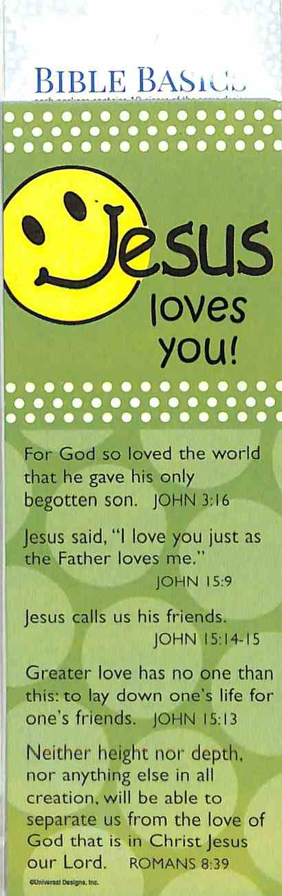 Jesus Loves You (10 Pack) (Smiley Face) (Bible Basics Bookmark Series)