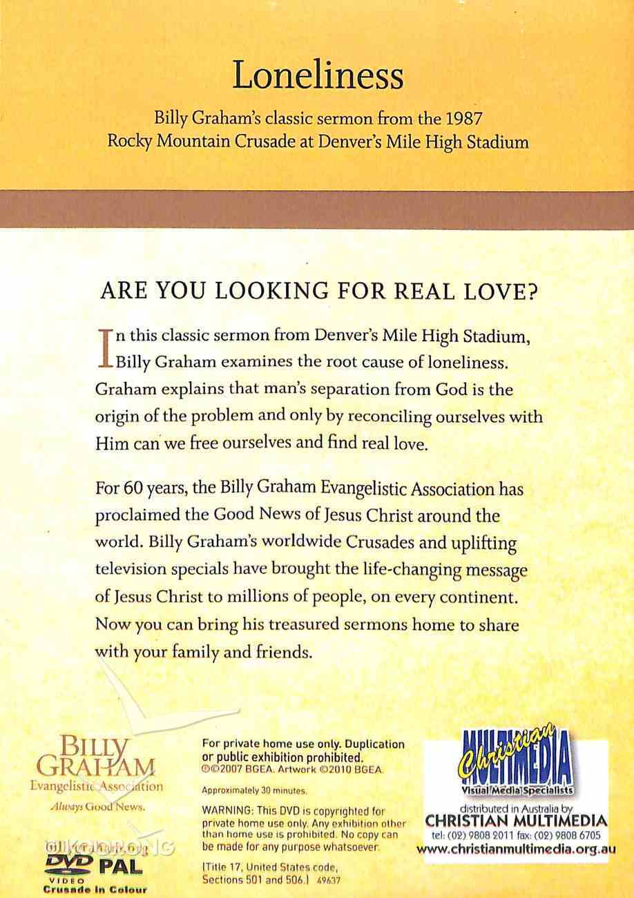 Loneliness (Classic Crusade Message Series) DVD