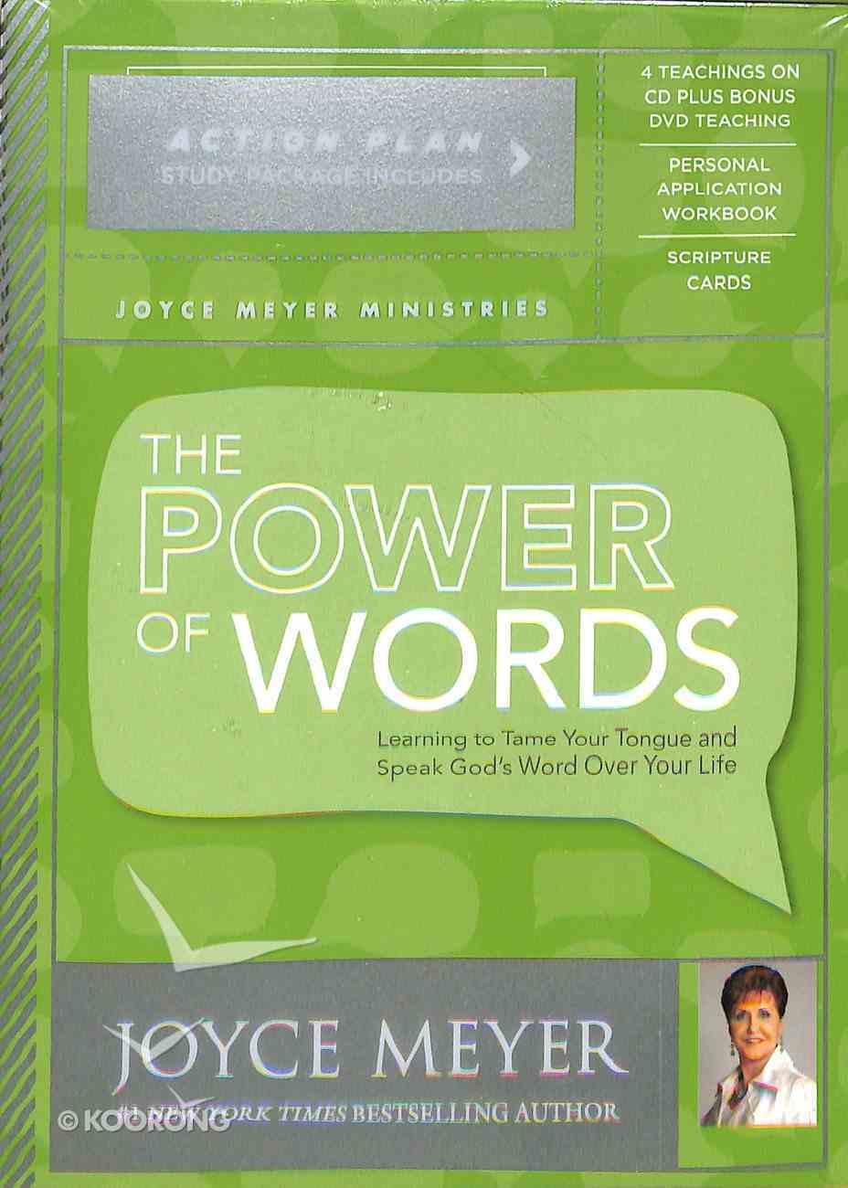 The Power of Words Action Plan (Kit Includes 5 Sessions- 4 Audio Cd 3 Hour 53 Min And 1 Video Dvd 1 Hour 50 Min, Study Guide, Scripture Cards) Pack