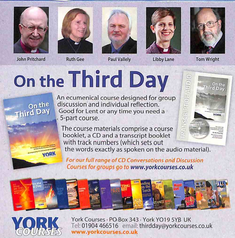 On the Third Day (Cd-Audio) (York Courses Series) CD