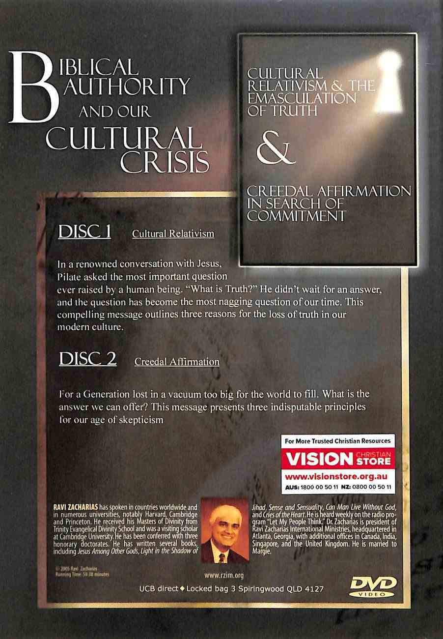 Biblical Authority and Our Cultural Crisis (2 Dvd Set) DVD