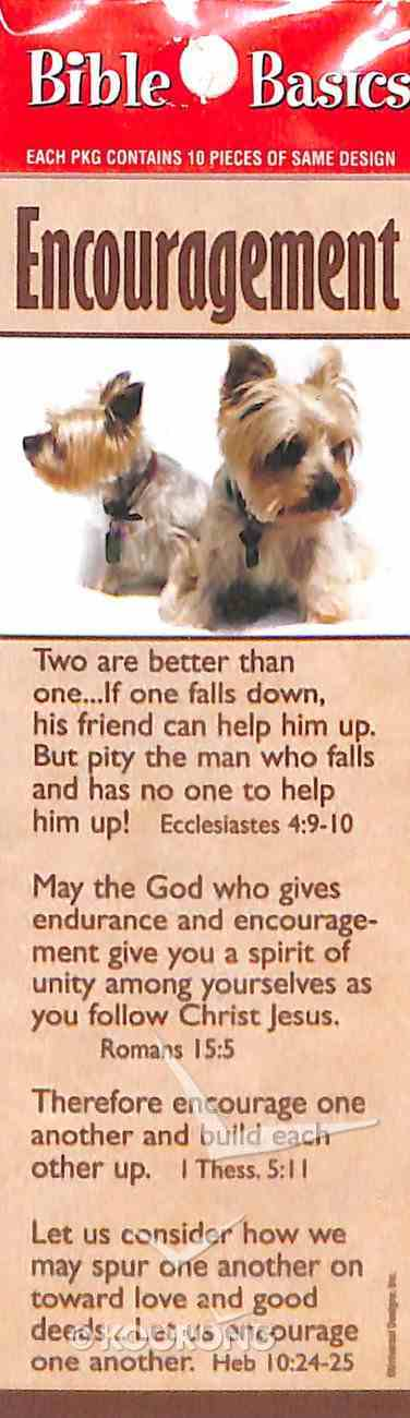 Encouragement , Cute Puppies, Various Scriptures (10 Pack) (Bible Basics Bookmark Series) Stationery