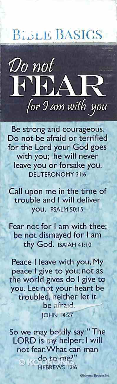 Do Not Fear, For I Am With You , Various Scriptures (10 Pack) (Bible Basics Bookmark Series) Stationery