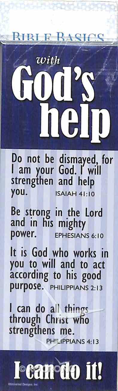 God's Help, I Can Do It! (10 Pack) (Bible Basics Bookmark Series) Stationery