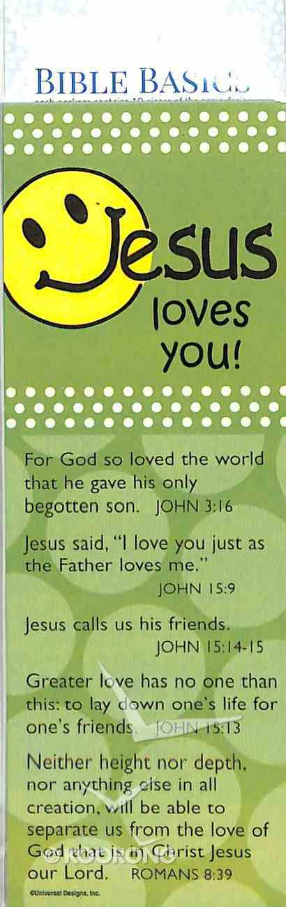 Jesus Loves You (10 Pack) (Bible Basics Bookmark Series) Stationery