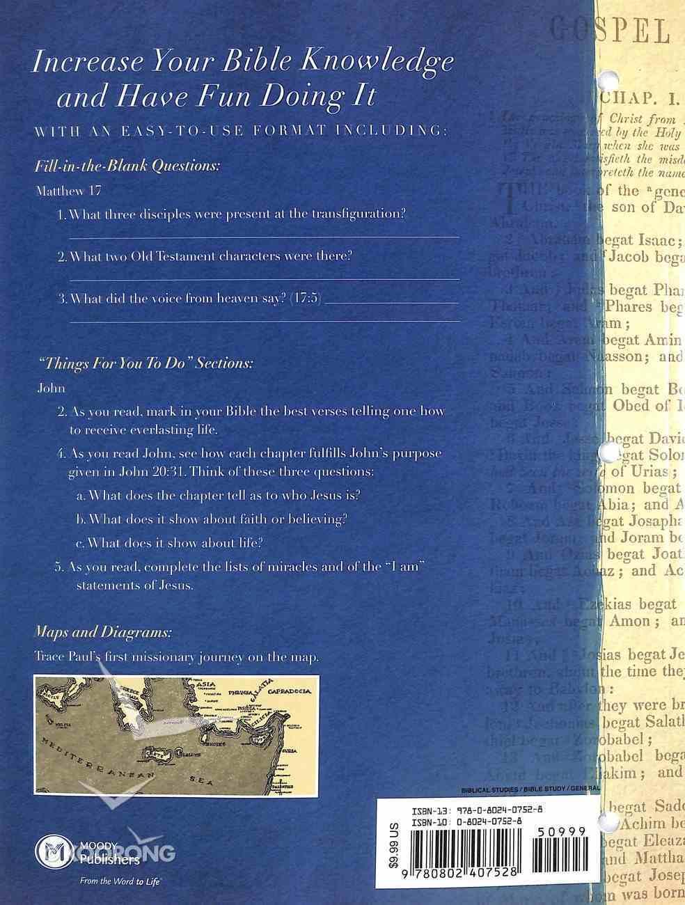New Testament (#02 in Bible Workbook Series) Paperback