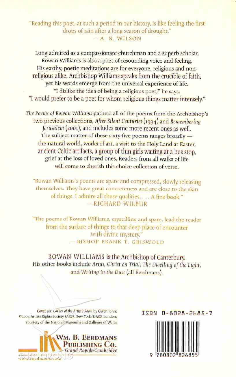 The Poems of Rowan Williams Paperback