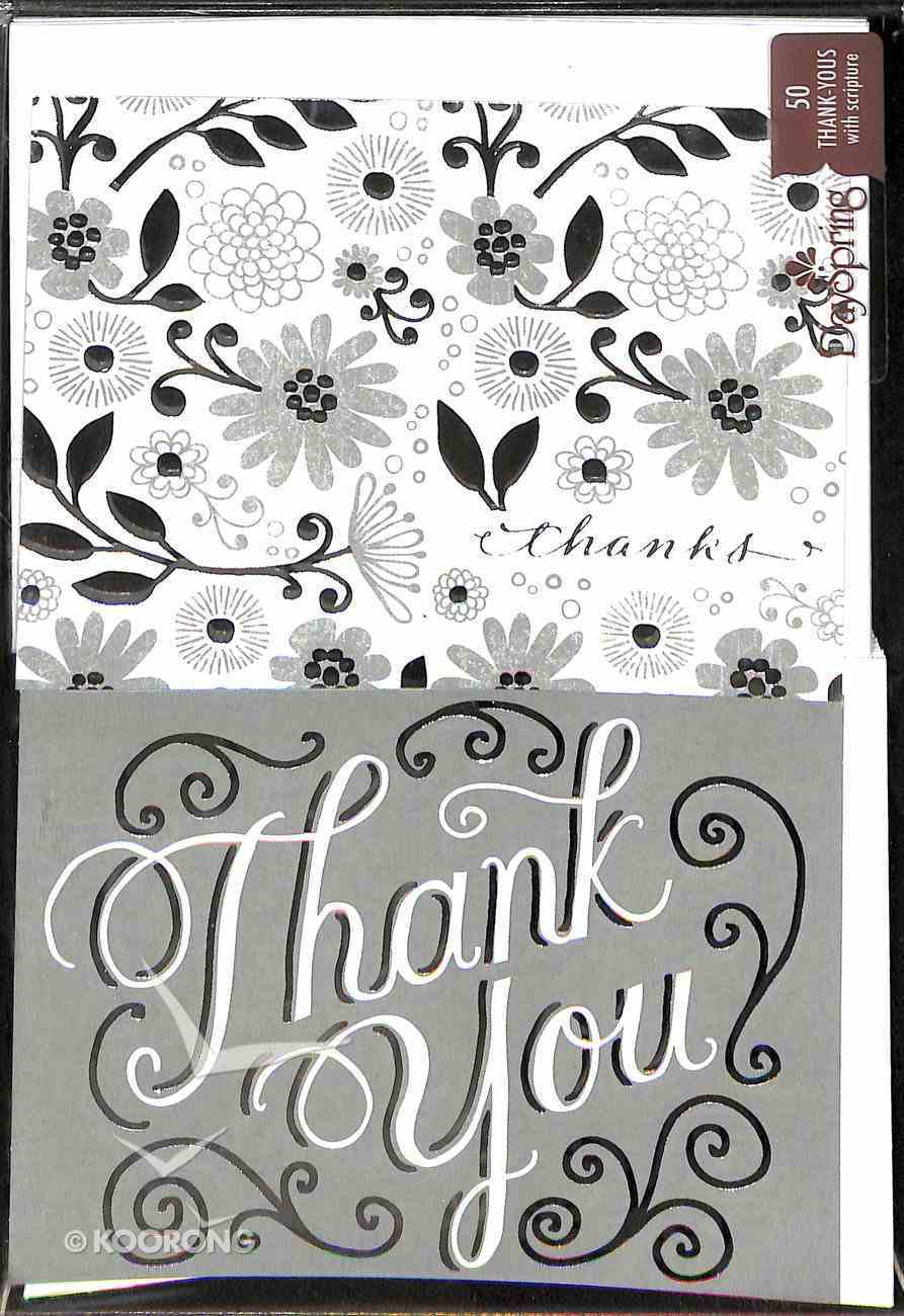 Note Cards Thank You: Wedding Silver (50 Pack) Stationery