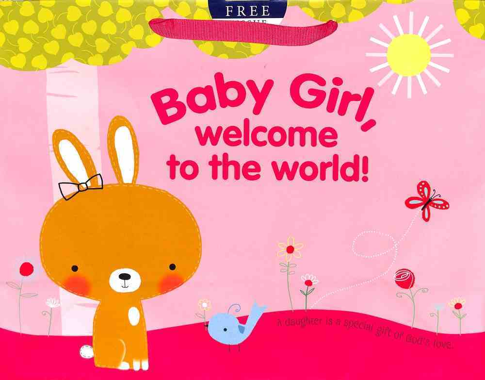 Gift Bag Large: Baby Girl, Welcome to the World! (Incl Tissue Paper & Gift Tag) Stationery