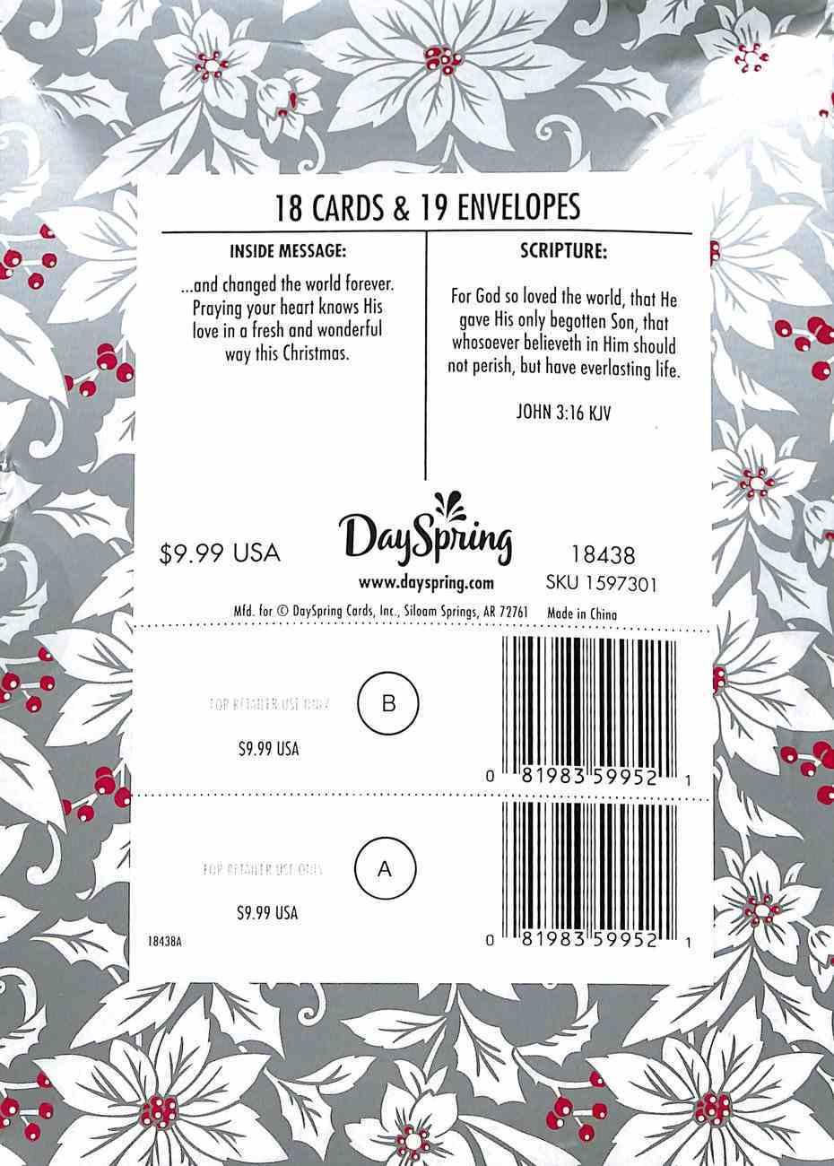 Christmas Boxed Cards: Love Came Down (John 3:16 Kjv) Box