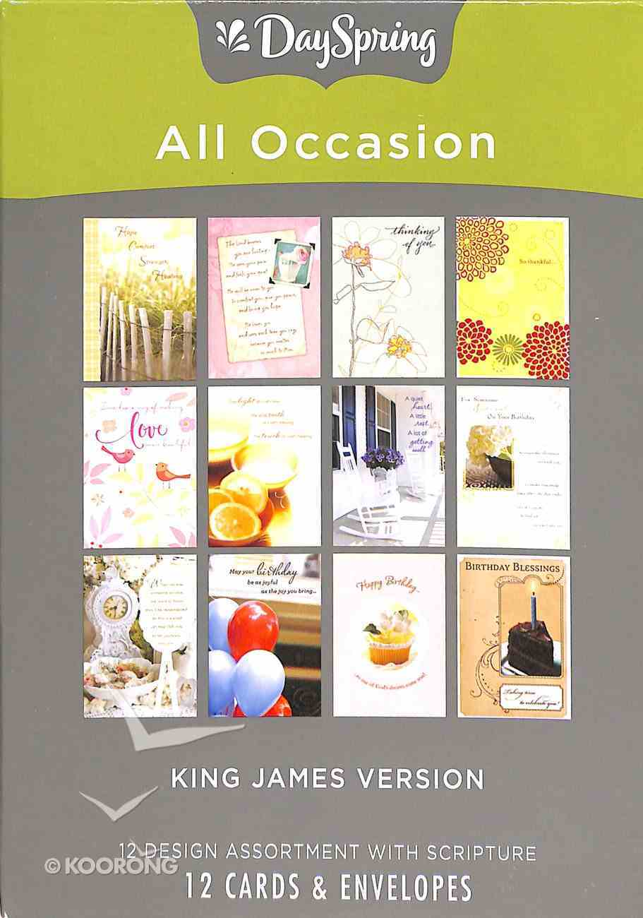 Boxed Cards All Occasion: King James, KJV Scripture Text Box