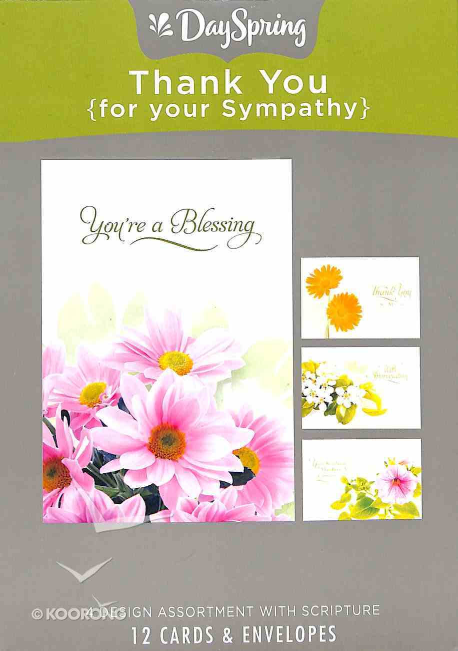 Boxed Cards Thank You: For Your Sympathy, Flowers Box