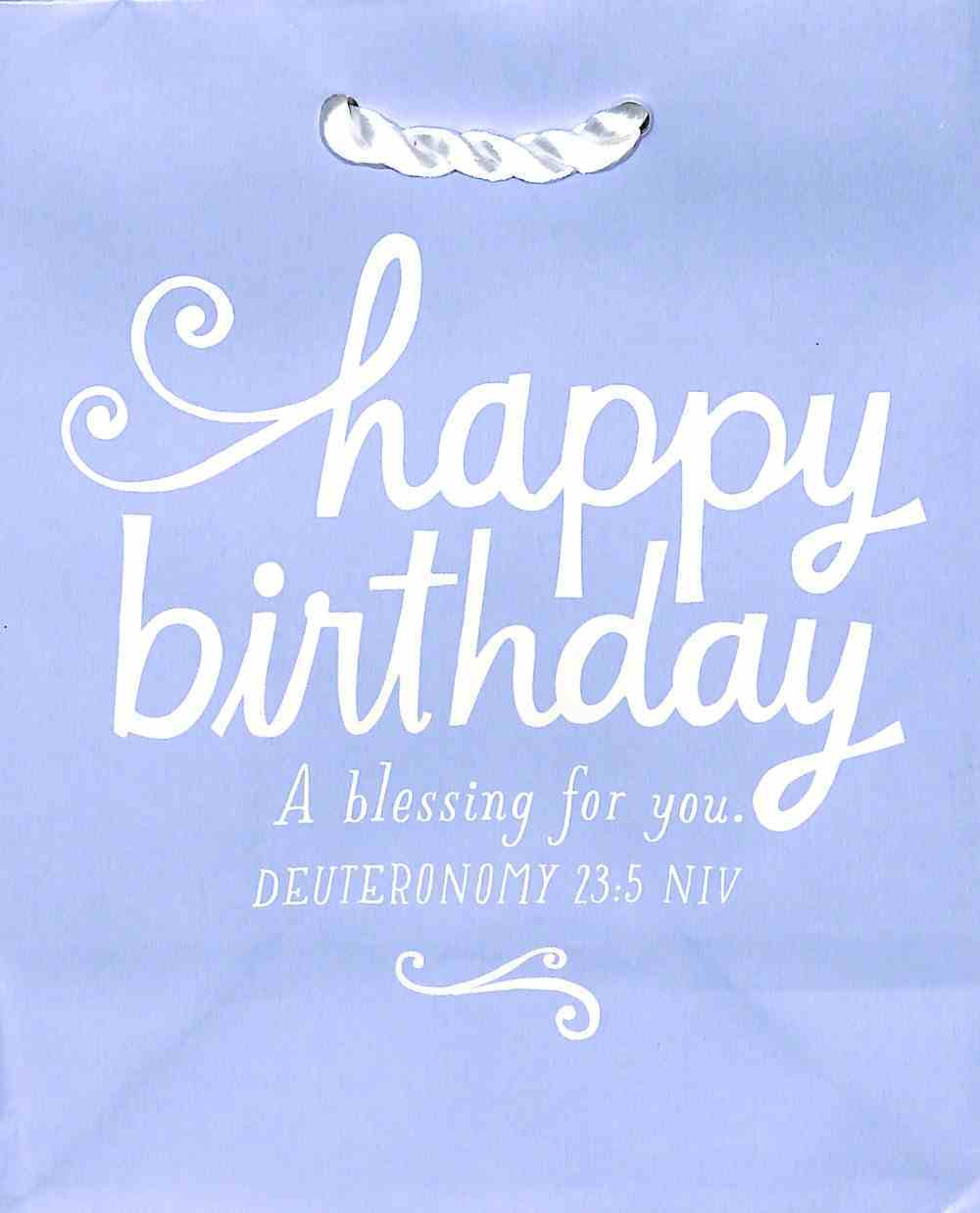 Value Gift Bag Small: Blessing For Your Birthday (Deut 23:5 Niv) Stationery
