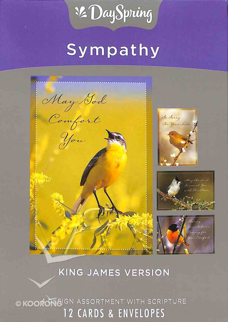 Boxed Cards Sympathy: Birds, KJV Scripture Text Box
