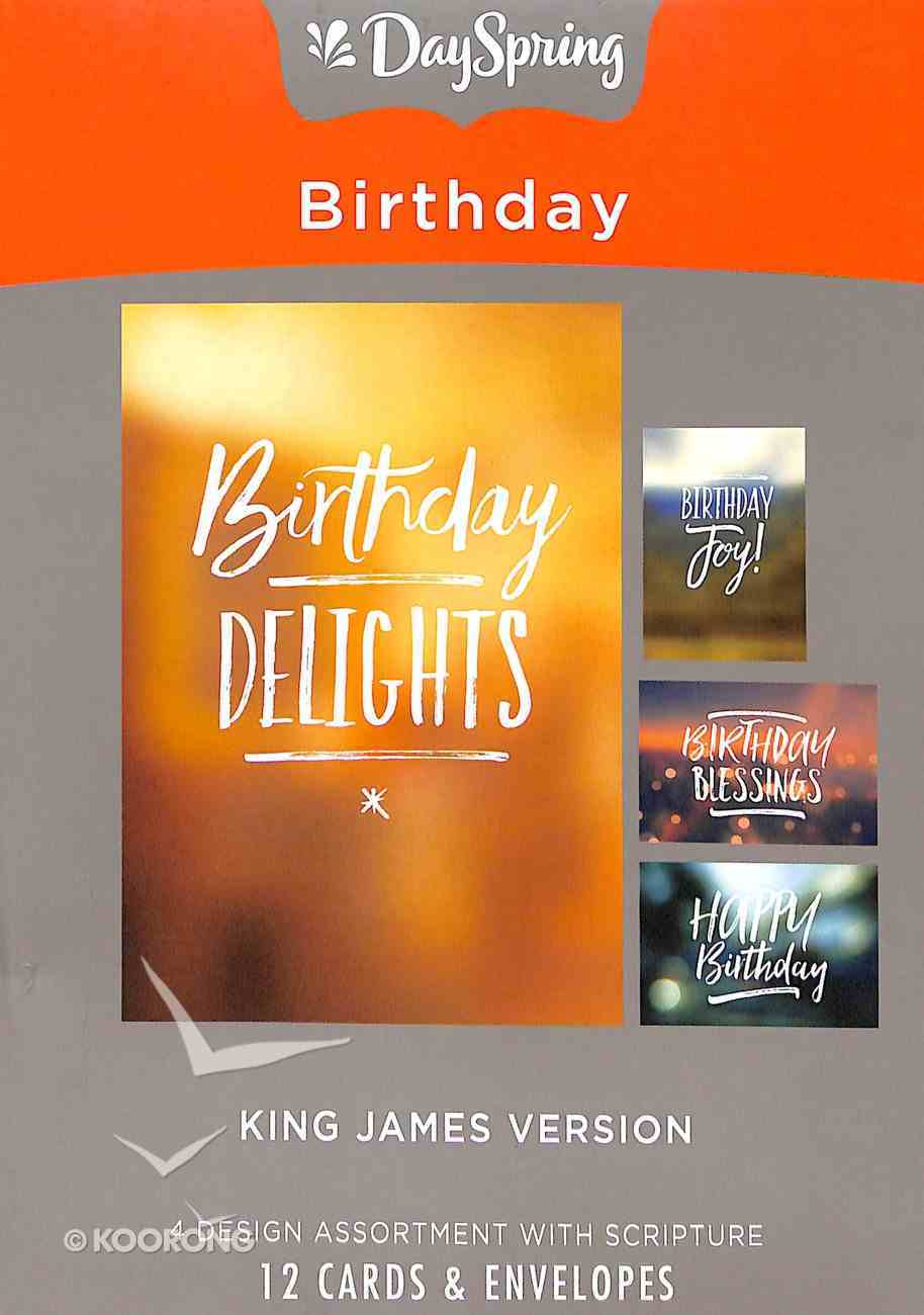 Boxed Cards Birthday: Simply Stated, KJV Scripture Text Box