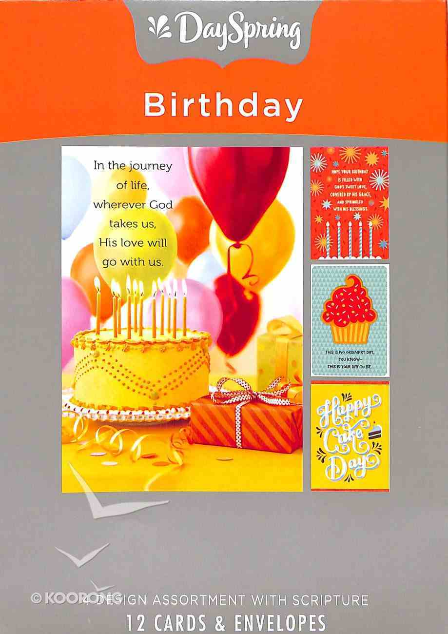 Boxed Cards Birthday: Images (Party, Cake, Candles) Box