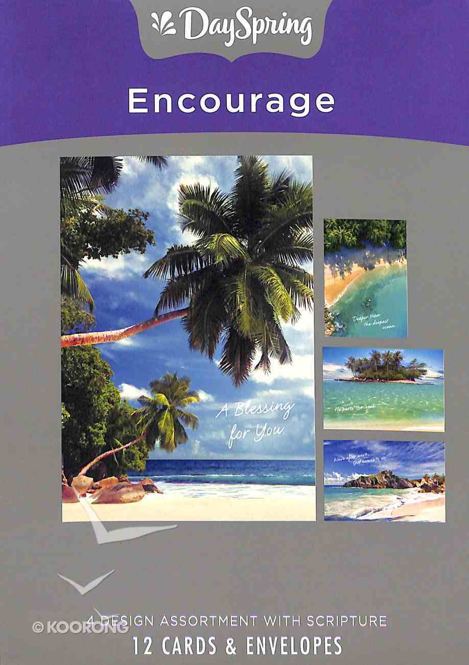 Boxed Cards Encourage: Beaches, Mixed Scripture Text Box