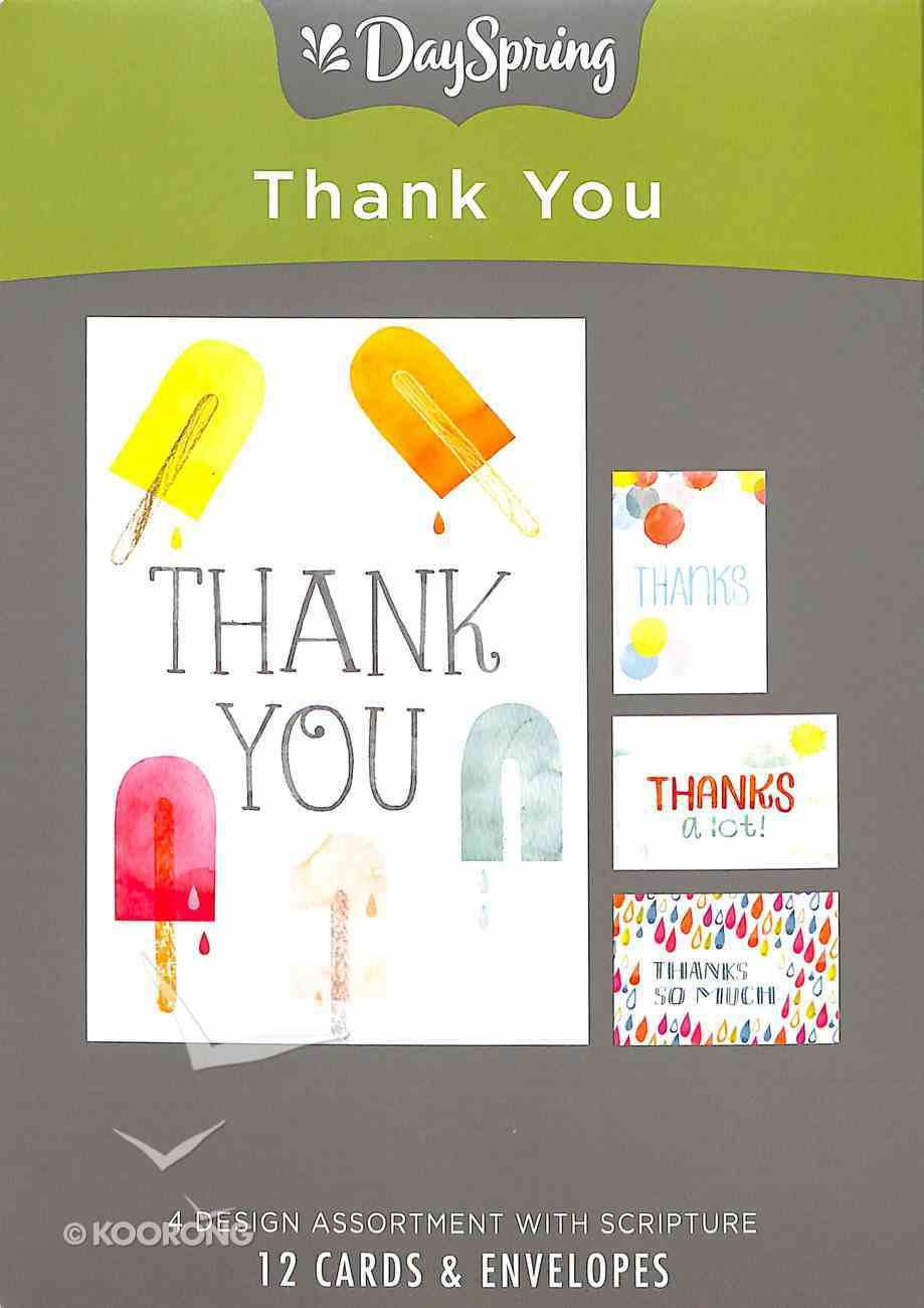 Boxed Cards Thank You: Fun Box