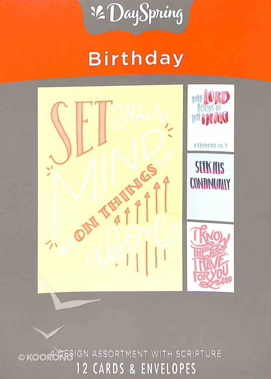 Boxed Cards Birthday: Bible Letters Box