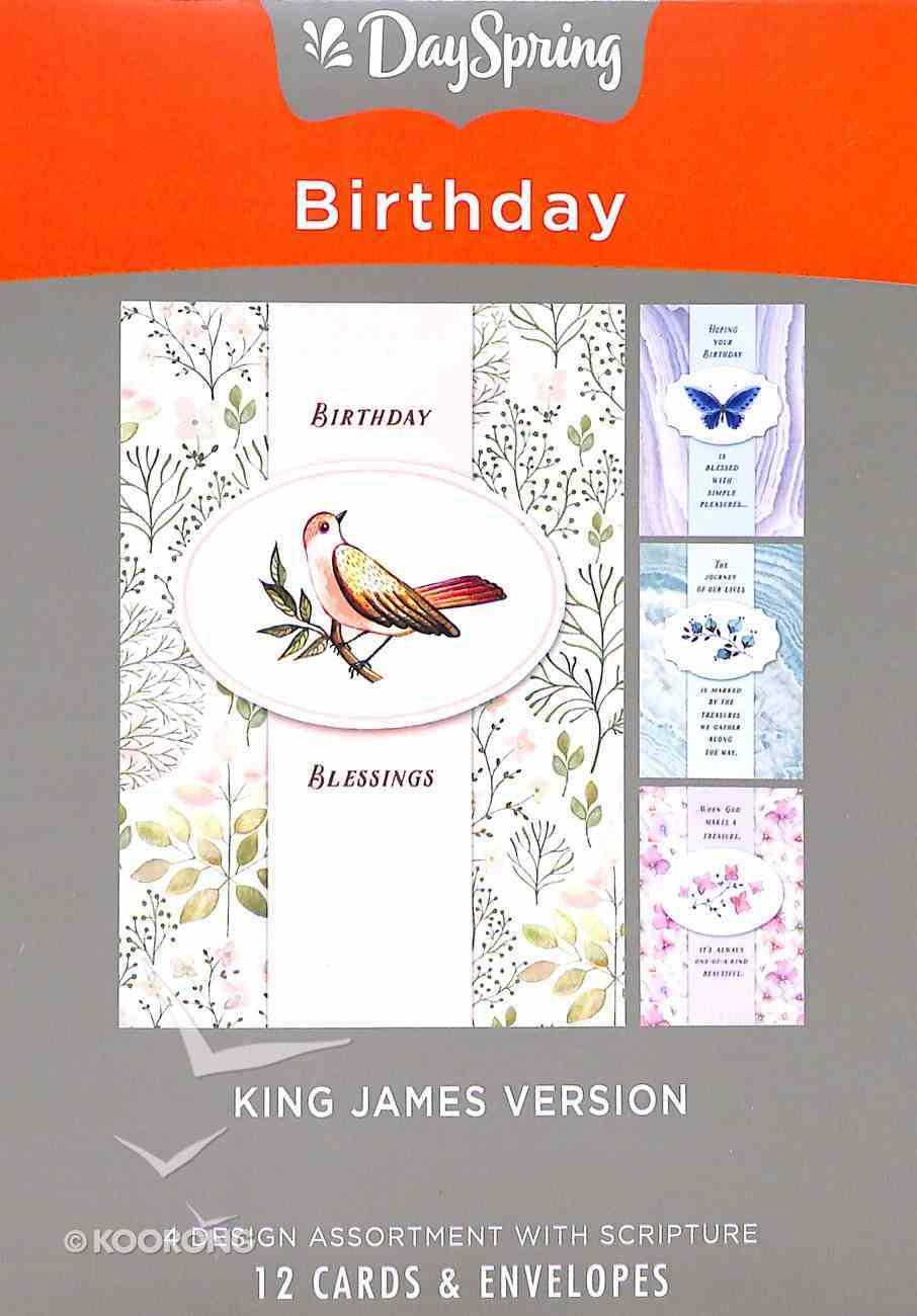 Boxed Cards Birthday: Treasured, KJV Scripture Text Box