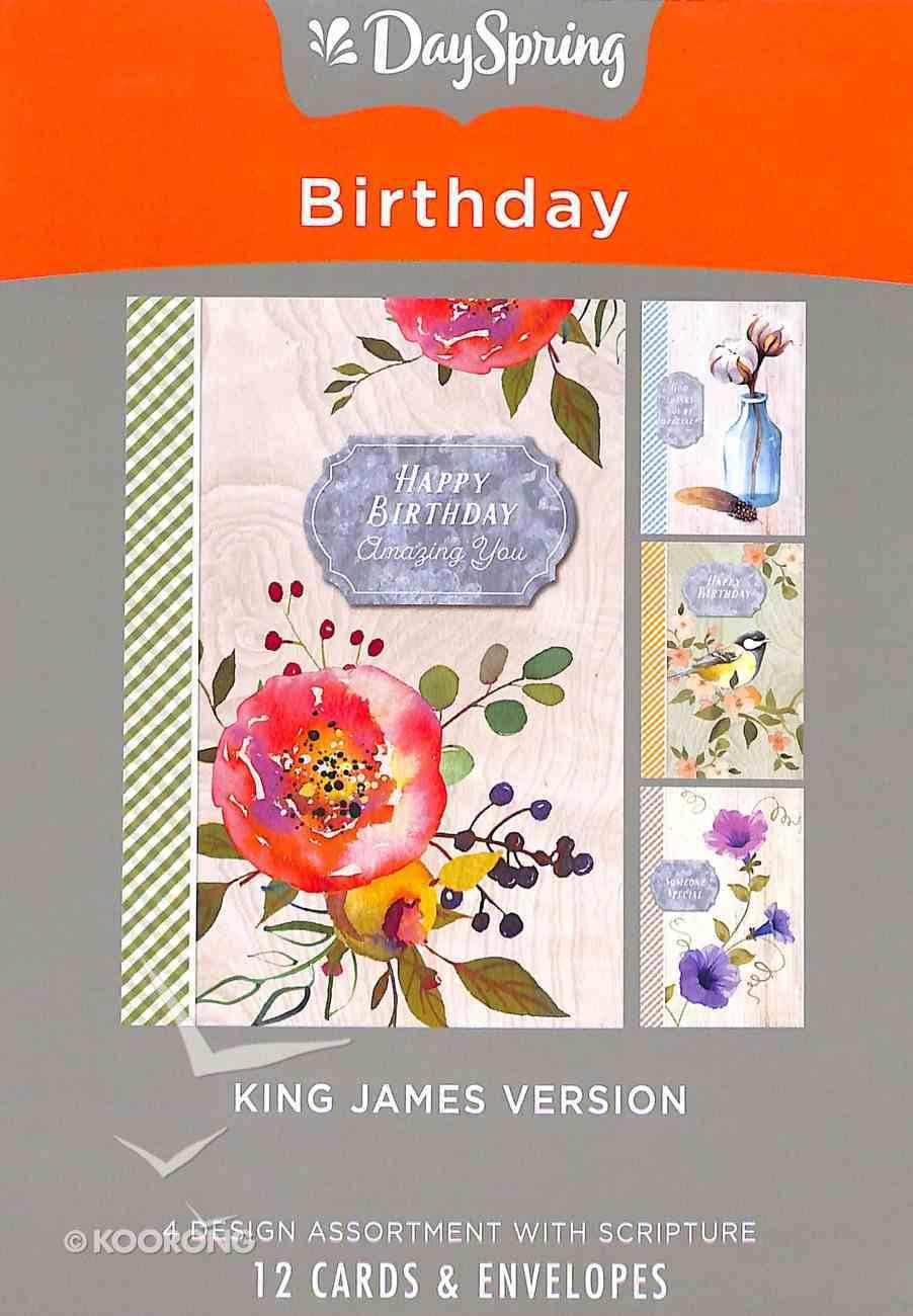 Boxed Cards Birthday: Farmhouse, KJV Scripture Text Box