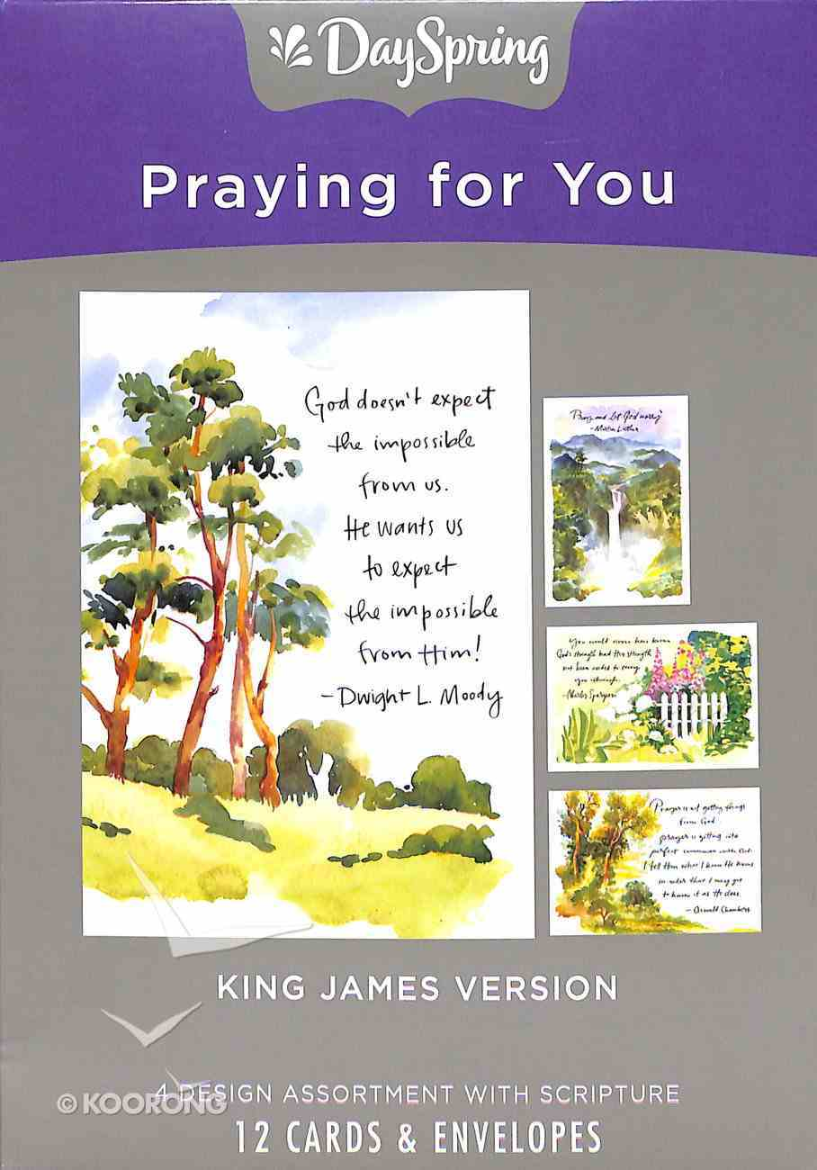 Boxed Cards Praying For You: Classic Quotes, KJV Scripture Text Box