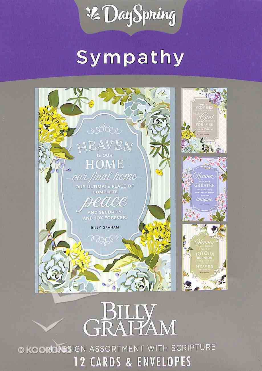 Boxed Cards Sympathy: Billy Graham, KJV Scripture Text Box