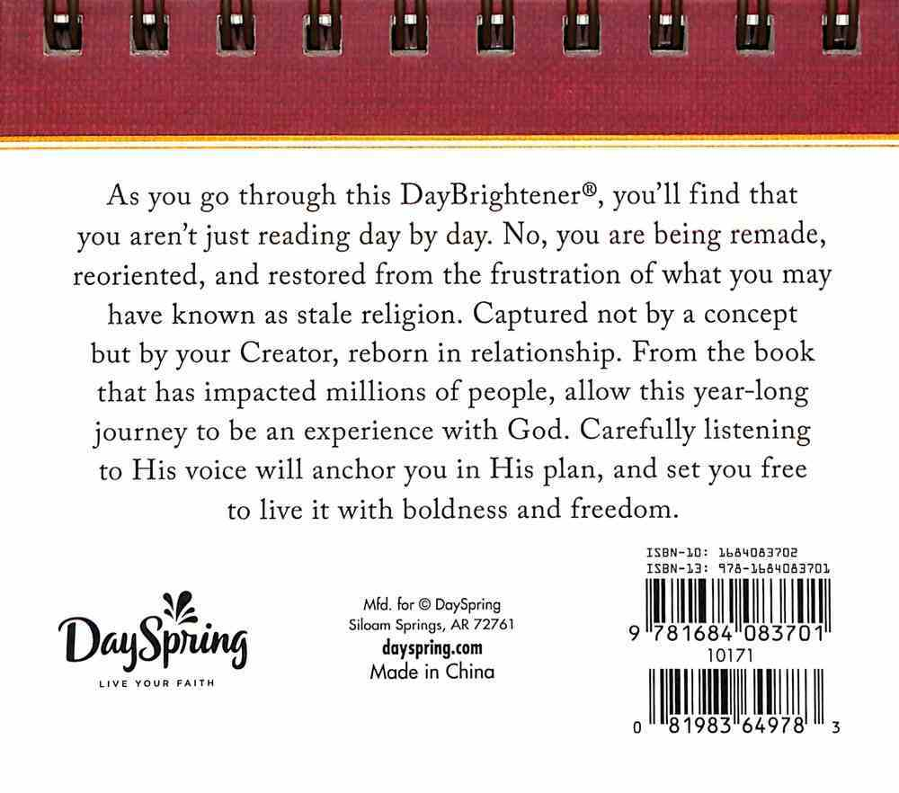Daybrighteners: Experiencing God (Padded Cover) Spiral