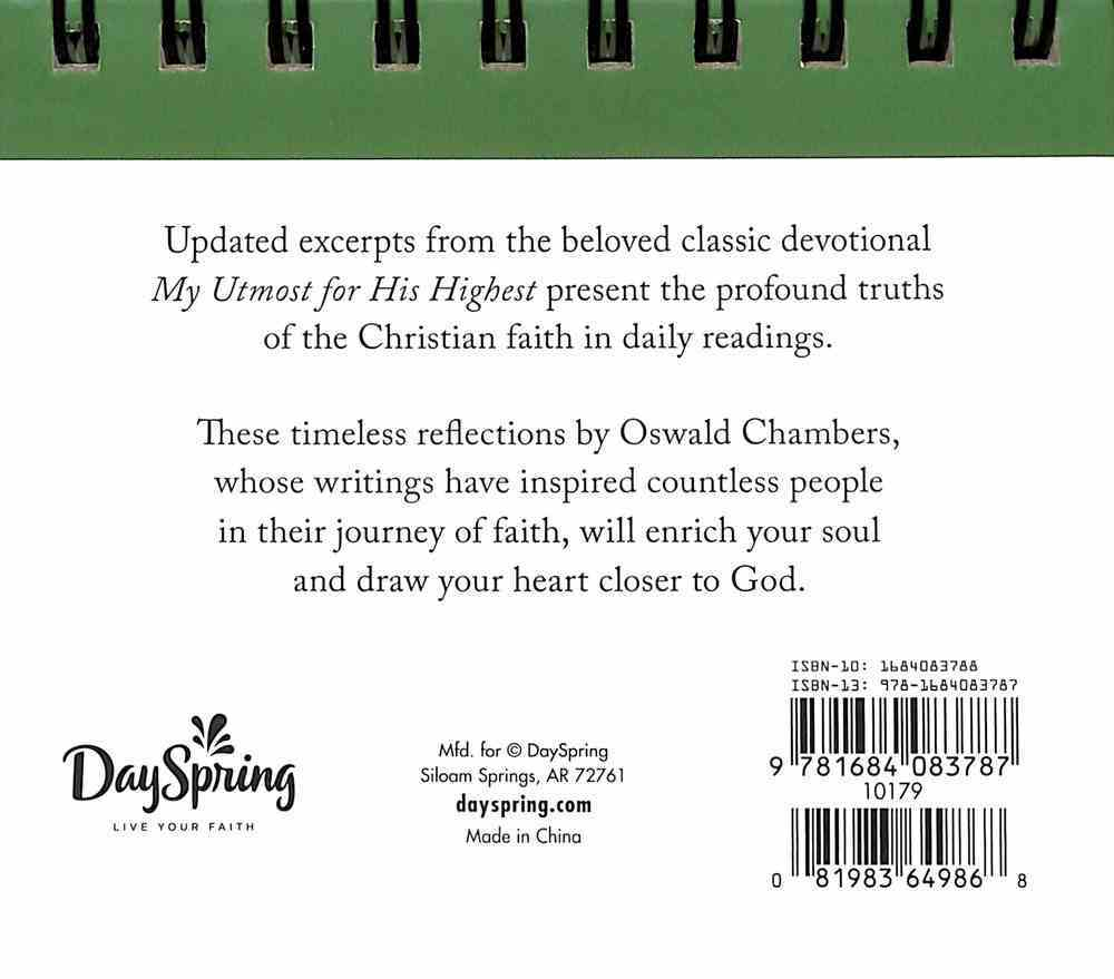 Daybrighteners: My Utmost For His Highest (Padded Cover) Spiral