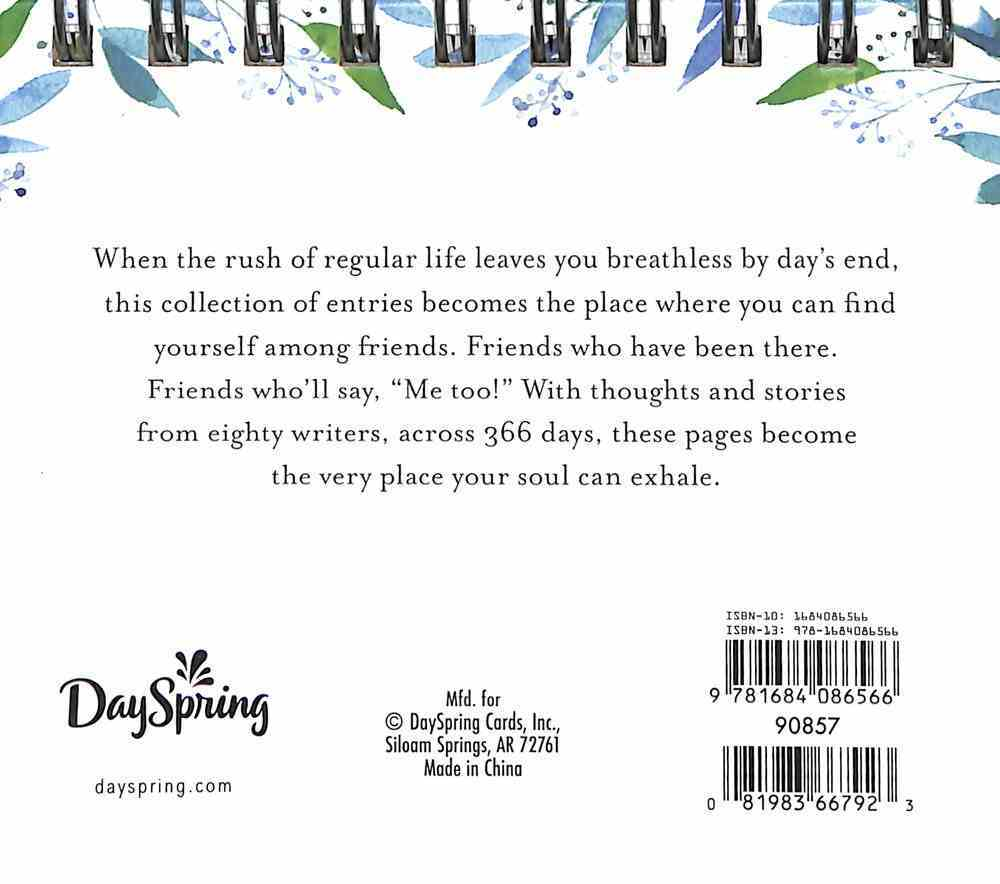 Daybrighteners: A Moment to Breathe - 366 Devotional Thoughts That Meet You in Your Everyday Mess (Padded Cover) Spiral