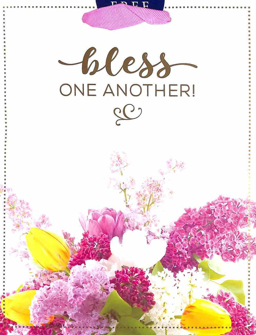 Gift Bag Medium: Bless One Another Bouquet (Incl Two Sheets Tissue Paper & Gift Tag) Stationery