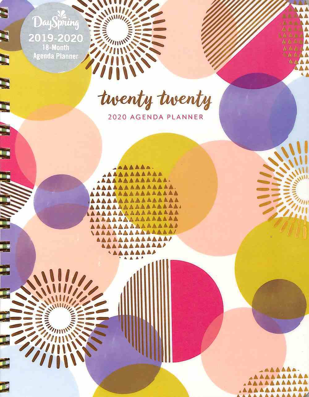 2020 18-Month Agenda Diary/Planner: Inpowered, Gold Foil Spiral